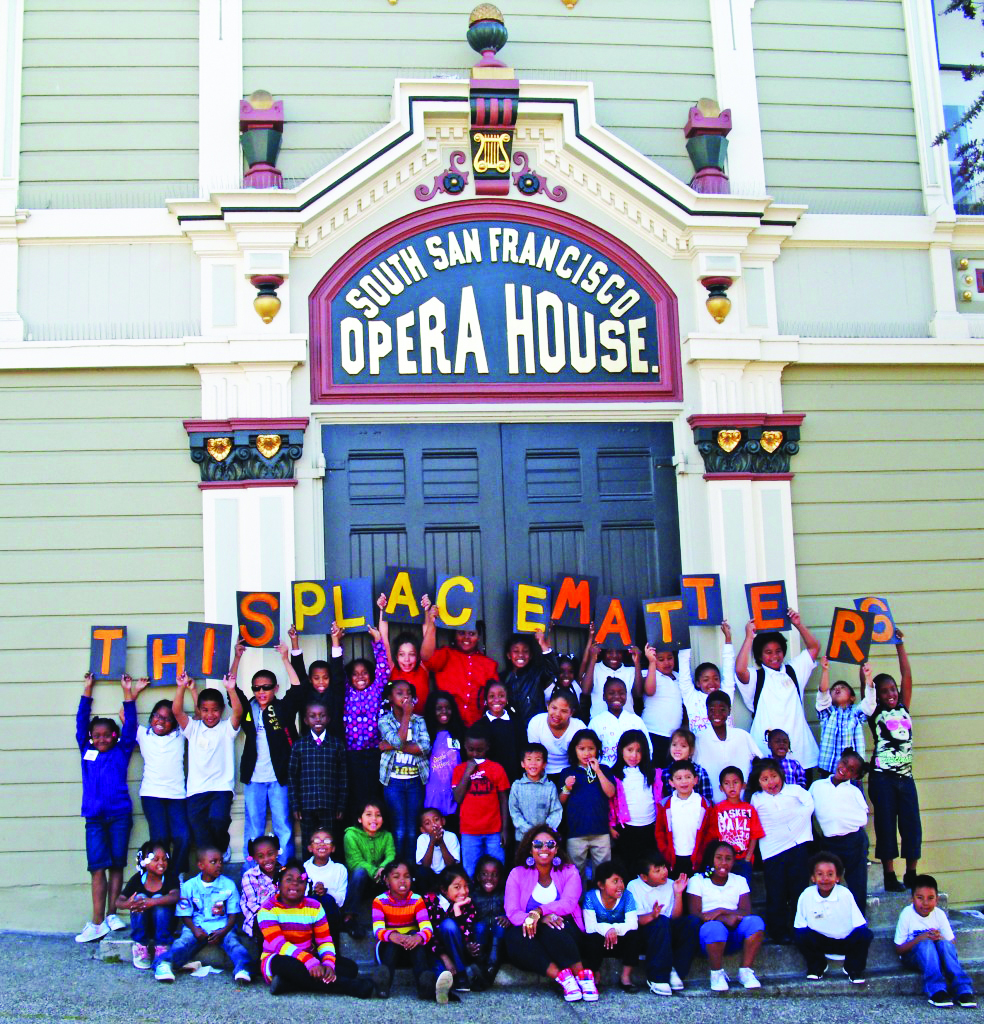Bayview-Opera-House-children-spelling-This-Place-Matters, City attacks Black culture to erase Blacks from San Francisco, Culture Currents