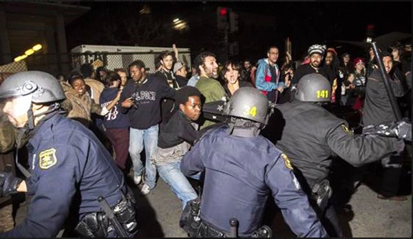 Berkeley-PD-attack-'I-Can't-Breathe'-demonstration-after-Eric-Garner-killer-cop-not-indicted-120614, How did friendly Berkeley come to be spying for the FBI?, Local News & Views