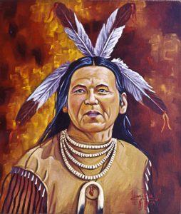 Dennis-Banks-Warrior-art-by-Leonard-Peltier-web-254x300, Dennis Banks, warrior for Indian rights, presénte, Culture Currents