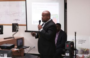 HUD-Sec-3-forum-Masood-Ordikhani-dir.-SFPUC-Workforce-Economic-Programs-welcomes-participants-SFPUC-Contractors-Assistance-Center-102017-by-Labor-Compliance-Managers-web-300x194, Making sure 'brothers and sisters' attain real jobs and contracts on Alice Griffith Housing Development Project, Local News & Views