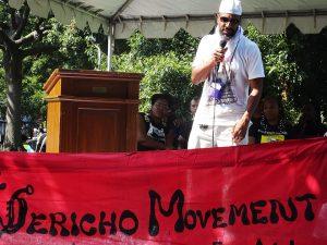 Millions-for-Prisoners-DC-rally-Lafayette-Park-Jihad-Abdulmumit-Jericho-Movement-wearing-California-Hunger-Strike-T-shirt-081917-by-Wanda-web-300x225, Jalil A. Muntaqim: The making of a movement, Behind Enemy Lines