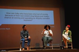 SF-Cannabis-Forum-Jude-Pond-Juell-Stewart-Nina-Parks-BV-Opera-House-102117-by-Betty-Rose-Livingston-web-300x199, Community pushes for equity in cannabis licensing, Local News & Views