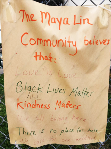 The-Maya-Lin-Community-believes-that-...-All-Black-Lives-Matter-defaced-welcome-sign-Alameda-1017-224x300, ACLU calls on Alameda School District to lift Black Lives Matter ban, Local News & Views