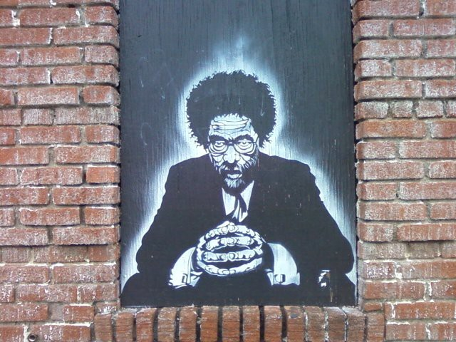 Cornel-West-stencil-graffiti-on-abandoned-bldg-Asheville-NC, Coates doesn't get it, National News & Views