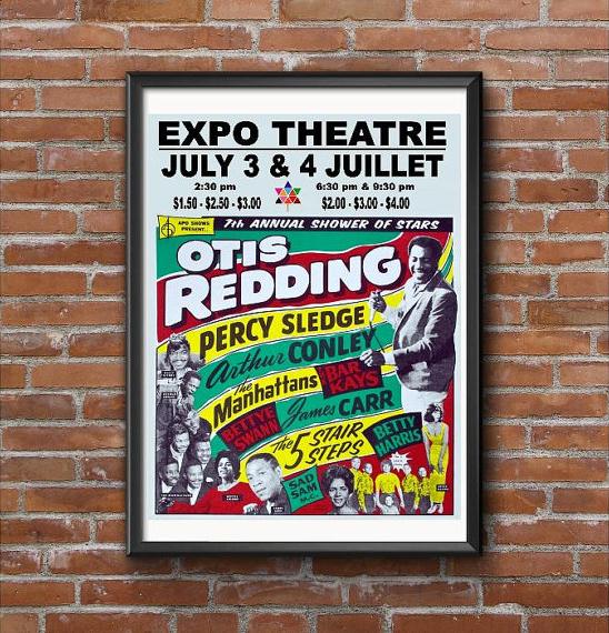 Otis-Reddings-Expo-67-concert-Montreal-poster, Otis Redding and Muhammad Speaks, Culture Currents