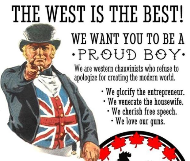 Proud-Boy-poster, Proud Boys, Culture Currents