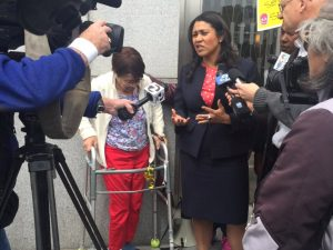 Board-of-Supervisors-President-London-Breed-speaks-to-press-against-Iris-Canadas-eviction-0416-by-London-Breed-Twitter-300x225, London Breed is free to be our mayor, Local News & Views