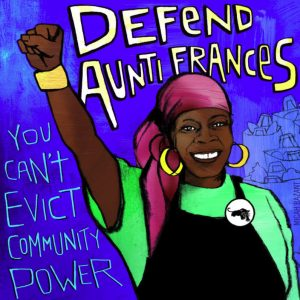 Defend-Aunti-Frances-graphic-by-Micah-Bazant-300x300, Evicting the Black Panthers' vision: The fight for Aunti Frances and the Self-Help Hunger Program, Local News & Views