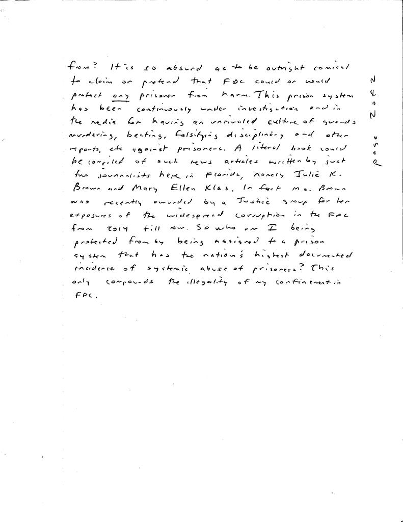 Florida-State-Prison-Response-to-Kevin-Rashid-Johnsons-grievance-112017-7, Florida warden retaliates for article publicizing prison abuses, slave labor and prisoner protest, Behind Enemy Lines