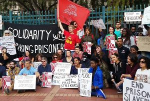 Florida-prison-strike-MLK-Day-support-rally-FL-DOC-Miami-Circuit-Office-011518-by-Liberation-News-300x203, Florida prisoners launch strike against slave labor, Behind Enemy Lines