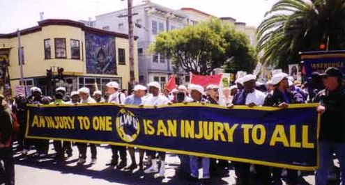 ILWU-West-Coast-port-shutdown-for-Mumias-freedom-on-his-45th-bday-042499, New appeal to free Mumia! Endorse today!, Behind Enemy Lines