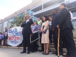 Philly-DA-candidate-Larry-Krasner-supporters-campaign-Build-schools-not-jails-Krasner-4-DA-by-Richard-Garella-Krasner-for-DA-300x224, How prisoners organized to elect a just DA in Philly, National News & Views
