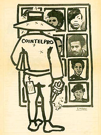 The-Impact-of-COINTELPRO'-art-by-Emory-Douglas-1976, Criminalizing 'Panther Love' and the New Wave COINTELPRO tactics in Texas prisons, Behind Enemy Lines