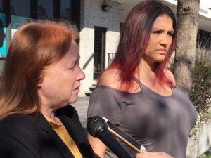 Ellen-Barry-expert-witness-Christina-Zepeda-plaintiff-Christina-Zepeda-in-pregnant-women's-fed-lawsuit-against-Santa-Rita-at-press-conf-013118-300x225, Pregnant prisoners recount horrific jail conditions at Santa Rita in federal lawsuit, Local News & Views