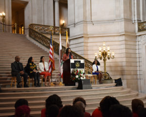 London-Breed-speaks-at-Black-History-Month-celebration-City-Hall-020218-by-Johnnie-Burrell-web-300x241, Supervisors President London Breed joins city leaders in announcing first-in-the-nation legislation eliminating criminal justice fees in San Francisco, Local News & Views