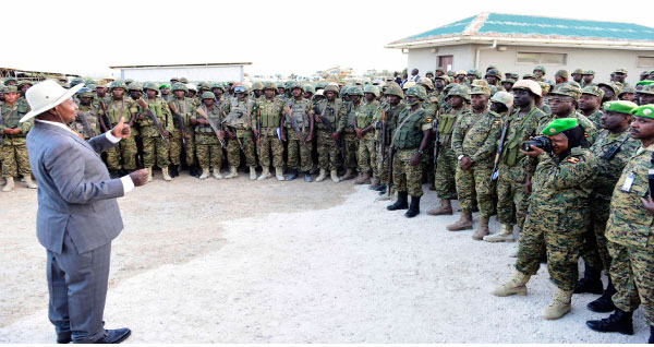 Pres.-Museveni-talks-to-Ugandan-troops-in-Somalia, America, Uganda and the War on Terror – a book review, World News & Views