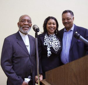 Rev.-Amos-Brown-BOS-Pres-London-Breed-Rev.-Jesse-Jackson-at-Third-Baptist-forum-on-voting-030216-by-Johnnie-Burrell-web-300x290, As San Francisco mayor, London will share power with the poor, Local News & Views