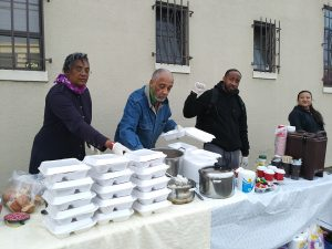 Homeless-encampment-on-Wood-Street-in-West-Oakland-Lower-Bottoms-Auset-Movement-volunteers-Wanda-Ravernel-Tobaji-Azubike-Lubia-Sanchez-serve-hot-meal-MLK-birthday-011518-by-Wanda-300x225, Wanda's Picks for March 2018, Culture Currents