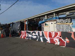 Homeless-encampment-on-Wood-Street-in-West-Oakland-Lower-Bottoms-MLK-birthday-011518-by-Wanda-300x225, Wanda's Picks for March 2018, Culture Currents