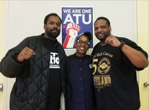 Jovanka-Beckles-Amalgamated-Transit-Union-Assistant-Business-Agent-Eric-Darby-ATU-member-Nathaniel-Arnold-300x221, Jovanka will bring people power from Richmond to the California Assembly, Local News & Views