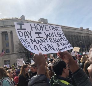 March-for-Our-Lives-I-hope-one-day-I-will-get-as-many-rights-as-a-gun-a-Black-American-sign-032418-by-Bradley-E.-Williams-300x281, 'One life is worth all the guns in America': Students demand end to violence at March for Our Lives, National News & Views