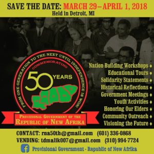 PG-NRA-50th-Anniversary-Commemoration-0329-040118-Detroit-flier-300x300, Free the land! Commemorating 50 years of the Republic of New Afrika, Culture Currents