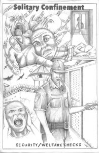 Solitary-Confinement-Security-Welfare-Checks-art-by-Jaime-Amesquita-web-195x300, Solitary crackers: Sleep deprivation is a whiplash to our souls, Behind Enemy Lines