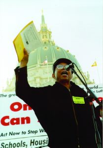 Willie-Ratcliff-speaks-at-021603-anti-war-rally-before-quarter-million-people-209x300, March with us: No to U.S. Wars at Home and Abroad, Local News & Views