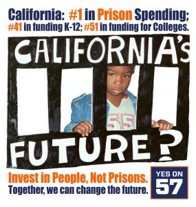 Yes-on-Prop-57-poster-285x300, Proposition 57 dashes hopes for lifers and Three Strikers, turning cirrhosis into death sentence, Behind Enemy Lines