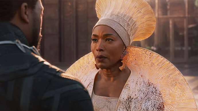 Angela-Bassett-in-Black-Panther, Angela Bassett stars in both Panther movies, Culture Currents