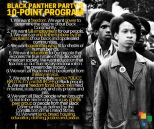 Black-Panther-Partys-10-Point-Program-graphic-300x251, Black and Brown community control of the police: Organize or die!, Local News & Views