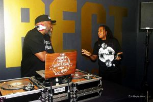 OMCAs-RESPECT-Hip-Hop-Style-and-Wisdom-DJ-Rick-with-DJ-Backside-032418-by-Eric-Murphy-300x199, Wanda's Picks April 2018, Culture Currents