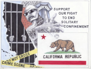 Support-Our-Fight-to-End-Solitary-Confinement-art-by-Michael-D.-Russell-web-300x230, Emergency action alert: The men who wrote the historic Agreement to End Hostilities are back in solitary – release them!, Behind Enemy Lines