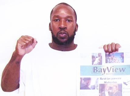 Uhuru-Baraka-Rowe-aka-Brian-Lee-Rowe-w-SF-Bay-View-ppr-web-cropped, Bay View: Baddest paper on the planet, Behind Enemy Lines