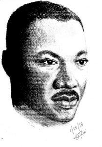 Martin-Luther-King-art-011513-by-Kiilu-208x300, Libations for Kiilu Nyasha on Wanda's Picks Radio, Culture Currents