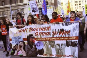 May-Day-march-in-Union-Square-New-York-City-050118-by-Garrett-Dicembre-Workers-World-300x200, Workers march with pride and power on May Day, International Workers' Day, National News & Views