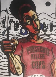 Prosecute-Killer-Cops-art-by-Eesuu-2016-217x300, San Francisco District Attorney George Gascón refuses to charge cops who killed Mario Woods or Luis Gongora Pat, Local News & Views