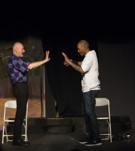 Solitary-Man-Charlie-Hinton-Fred-Johnson-touch-the-visiting-room-glass-to-say-goodbye-at-Black-Rep-042118-by-Malaika-web-269x300, 'Solitary Man' play and panel at the Black Rep – pain, survival, resistance, Culture Currents