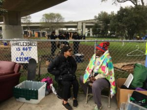 The-Village-homeless-encampment-in-park-36th-MLK-Oakland-just-before-destruction-0217-by-Kimberly-Veklerov-SF-Chron-300x225, What businesses should know about being homeless, Local News & Views