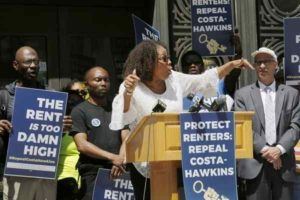 Venus-Zuhura-Noble-Alameda-Cty-social-worker-campaigns-OG-Plaza-for-repeal-of-Costa-Hawkins-042318-by-Laura-A.-Oda-Bay-Area-News-Group-300x200, Big money opposes repeal of Costa-Hawkins, returning real rent control to California, Local News & Views