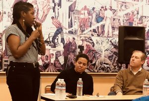 End-of-Policing'-moderator-Kamau-Walton-talks-with-Rachel-Herzing-Alex-Vitale-at-City-College-011818-web-300x203, More police, criminalization and gang suppression will not end homelessness in San Francisco, Local News & Views