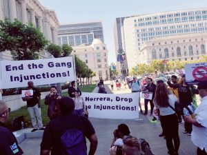 End-the-Gang-Injunctions-vigil-prior-to-ct-hrg-to-remove-enjoined-men-who-died-062818-by-SF-No-Injunctions-Coalition-300x225, More police, criminalization and gang suppression will not end homelessness in San Francisco, Local News & Views