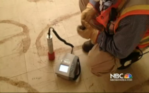 Geiger-counter-registers-million-times-human-tolerance-radiation-under-slab-1101B-Bigelow-Ct-Treasure-Island-by-US-Navy-on-NBC-300x188, Part One: The mission is not complete: How Andre Patterson and Felita Sample blew the whistle on Treasure Island fraud, Local News & Views