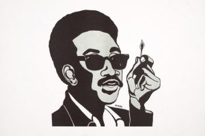 H.-Rap-Brown-Man-with-Match-art-by-Emory-Douglas-1967-cy-All-of-Us-or-None-300x199, The unofficial gag order of Jamil Al-Amin (H. Rap Brown): 16 years in prison, still not allowed to speak, Behind Enemy Lines