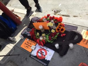 Memorial-for-enjoined-men-who've-died-but-still-on-gang-injunction-vigil-prior-to-ct-hrg-to-remove-names-062818-by-Daniel-Montes-Bay-City-News-300x225, More police, criminalization and gang suppression will not end homelessness in San Francisco, Local News & Views