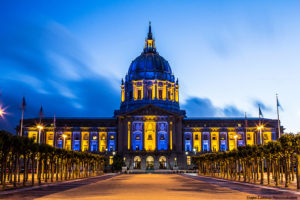 San-Francisco-City-Hall-in-Warriors-attire-by-James-Larieau-web-300x200, Black privilege loses to white power, white politics and white privilege in SF June election's Proposition I, Local News & Views