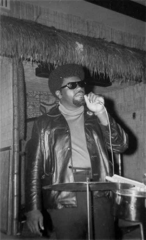 Elbert-Big-Man-Howard-speaks-at-The-Lamppost-Oakland-1969-by-Carole-Hyams-Howard, Rest in power, Elbert 'Big Man' Howard, founding father of the Black Panther Party, World News & Views
