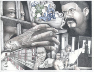 Everyday-Life-in-Californias-Level-4-Prisons-art-by-Michael-D.-Russell-web-300x231, SHU-shifting update: Relief finally granted to California prisoners experiencing ongoing isolation, Behind Enemy Lines