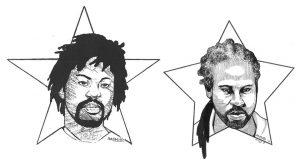 Kevin-Rashid-Johnson-art-self-portraits-earlier-2013-web-300x164, Back to Red Onion State Prison: Rashid's return to the original scene of criminal abuse, Behind Enemy Lines