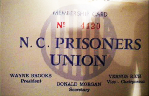 North-Carolina-Prisoners-Union-membership-card-cy-Univ-of-NC-Charlotte, 'We knew where the power was': Conversations with organizers of the North Carolina Prisoners' Labor Union, Behind Enemy Lines